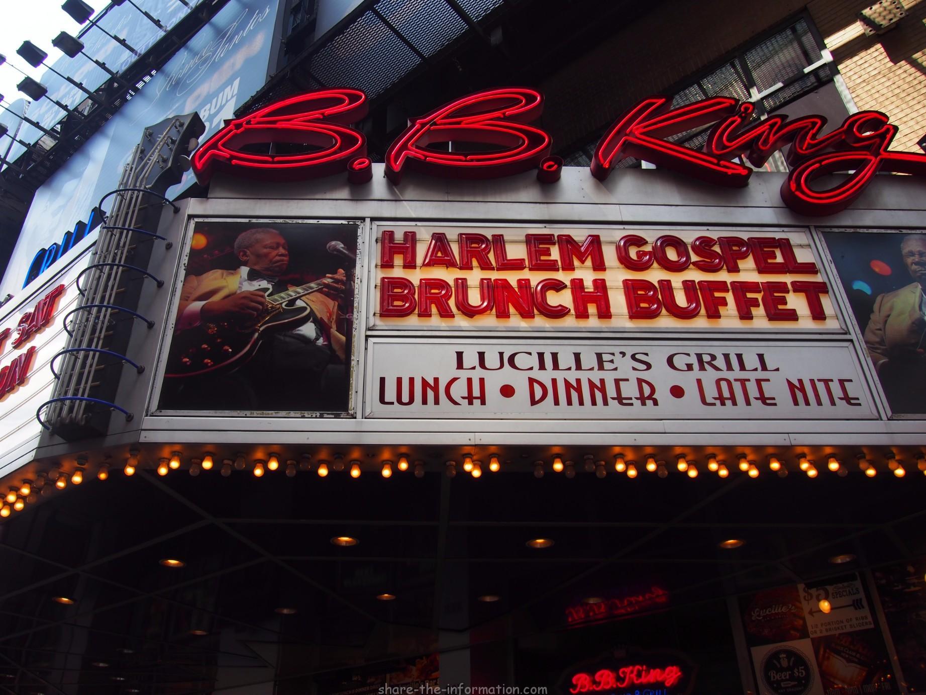 タイムズスクエアで本格ゴスペルを聞きながらブランチを食べよう!