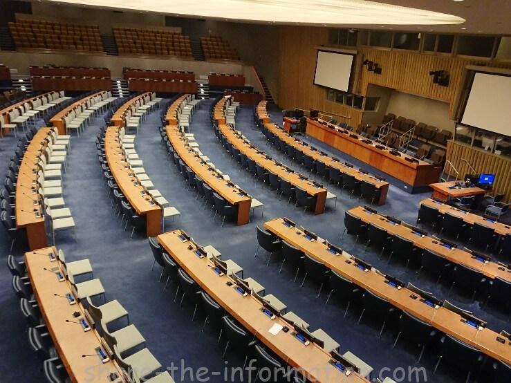 ニューヨーク国連本部の館内紹介