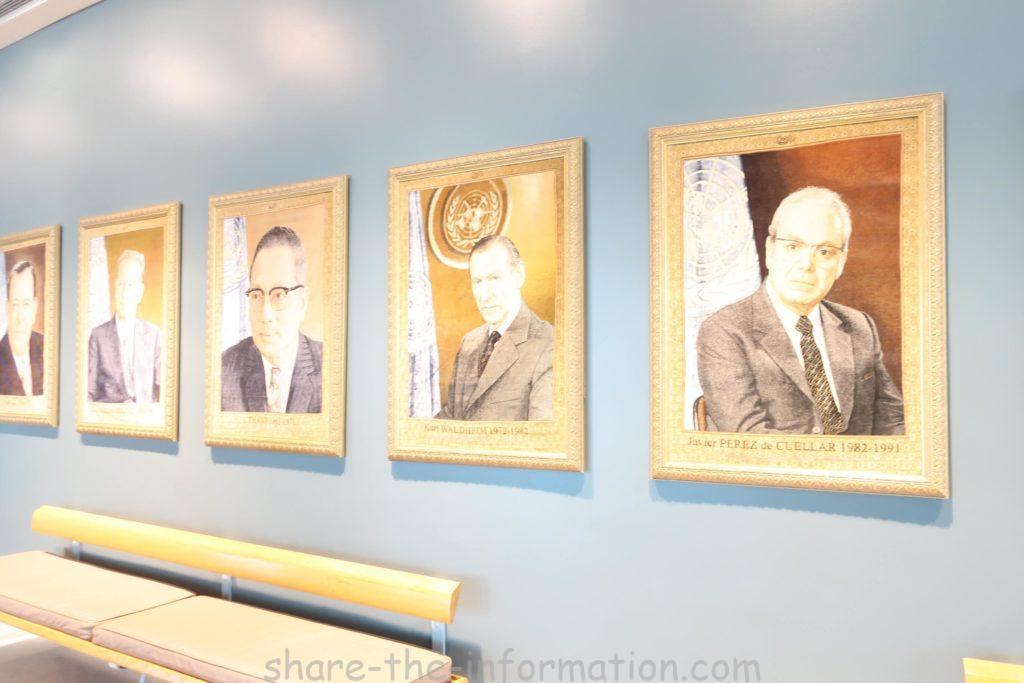 ニューヨーク国連本部の館内紹介 歴代総長