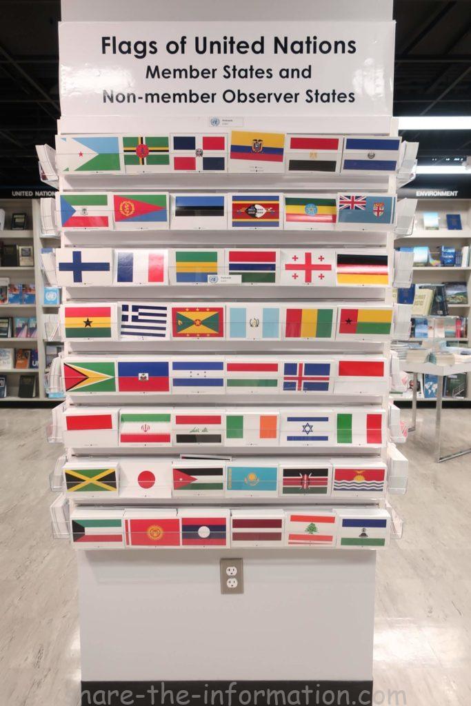 ニューヨーク国連本部のお土産国旗ポストカード